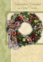 SCH14 - $2.80 Wrapped Spanish Cards - Happy Holidays PKD 6