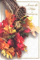 THA05 - $3.99 Retail Each - Thanksgiving Across the Miles Greeting Cards PKD 3