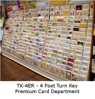 TK-4ER - Turn-Key of 4 Feet of Premium English Greeting Cards complete with free Fixture only $1123