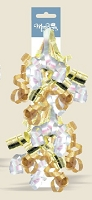 BW016 - $1.99 Retail each, Swirly Gold Bow in 2's - PKD 12