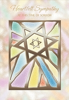 6133 - $2.80 Retail Each -Wrapped Jewish Sympathy Greeting Card PKD 6