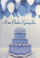 6788 - $2.80 Retail Each - Wrapped Spanish Cards - Birthday Father PKD 6