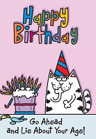 6174 - $2.80 Retail Each Birthday Humorous Feminine PKD 6