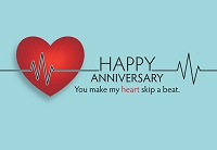 3867 - $2.80 Retail Each - Anniversary Spouse Greeting Card - PKD 6