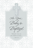 8116 - $2.80 Retail Each - Baby Baptism General Greeting Cards PKD 6 - Value