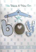 HM002 - $4.40 Retail Each - Baby Boy Handmade Greeting Cards - PKD 6