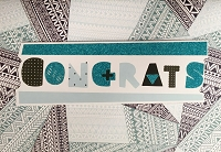 HM010- $4.40 Retail Each - Congratulations Handmade Greeting Cards - PKD 6