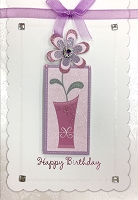 HM024 - $4.40 Retail Each - Birthday Feminine Handmade Greeting Cards - PKD 6