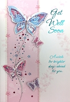HM031 - $4.40 Retail Each - Get Well Handmade Greeting Cards - PKD 6