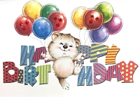 HM033 - $4.40 Retail Each - Birthday Juvenile Boy Handmade Greeting Cards - PKD 6