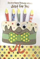 HM034 - $4.40 Retail Each - Birthday Juvenile General Handmade Greeting Cards - PKD 6