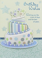 HM036 - $4.40 Retail Each - Birthday Masculine Handmade Greeting Cards - PKD 6