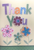 HM041 - $4.40 Retail Each - Thank You Handmade Greeting Cards - PKD 6
