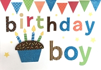 HM049 - $4.40 Retail Each - Birthday Boy Handmade Greeting Cards - PKD 6