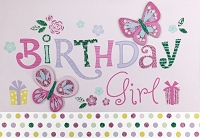 HM051 - $4.40 Retail Each - Birthday Girl Handmade Greeting Cards - PKD 6