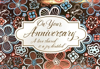 HM052 - $4.40 Retail Each - Anniversary Handmade Greeting Cards - PKD 6