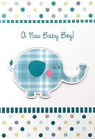 8000 - $5.99 Retail Each - New Baby Boy Greeting Cards PKD 3 - Premium