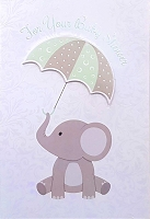 8017 - $5.99 Retail Each - Baby Shower Greeting Cards PKD 3 - Premium