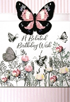 8050 - $5.99 Retail Each - Birthday Belated Greeting Cards PKD 3 - Premium