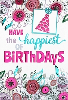1008 - $5.99 Retail Each - Birthday General Greeting Card - PKD 3