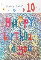 3503 - $5.99 Retail Each - Birthday Juvenile Age 10 Greeting Card - PKD 3