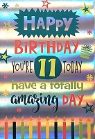 3504 - $5.99 Retail Each - Birthday Juvenile Age 11 Greeting Card - PKD 3