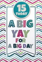 3507 - $5.99 Retail Each - Birthday Juvenile Age 15 Greeting Card - PKD 3