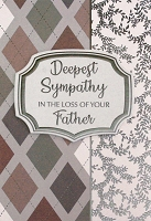 4887 - $5.99 Retail Each - Sympathy Loss of Father Greeting Cards PKD 3 - Premium