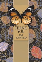 4210- $5.99 Retail each - Premium Thank You for Help Card - Pkd 3's