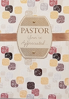 6016 - $5.99 Retail Each - Pastor Appreciation Greeting Cards PKD 3 - Premium