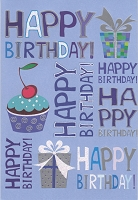 1404 - $3.99 Retail Each - Birthday Masculine Greeting Card - PKD 6