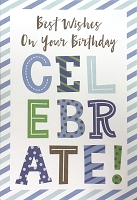 1409 - $3.99 Retail Each - Birthday Masculine Greeting Card - PKD 6