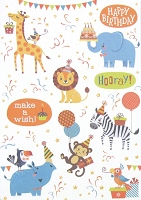 3517 - $3.99 Retail Each - Birthday Juvenile Greeting Card - PKD 6