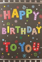 1826 - $3.99 Retail Each - Birthday Teen Greeting Card - PKD 6