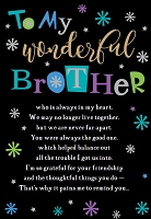 ED0008 - $3.99 Retail Each - Birthday Brother Humor Greeting Card - PKD 6