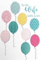ED0017 - $3.99 Retail Each - Birthday Wife Greeting Card - PKD 6