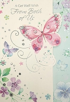 5026- $3.99 Retail Each - Get Well From Both Greeting Cards - PKD 6