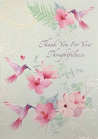 4241- $3.99 Retail each - Premium Thank You for Thoughtfulness Card - Pkd 6's
