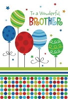 ED0010 - $3.99 Retail Each - Birthday Brother Greeting Card - PKD 6