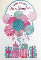 8035 - $5.99 Retail Each - Birthday Granddaughter Teen Greeting Cards PKD 3 - Premium