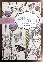 4875 - $5.99 Retail Each - Sympathy To You & Family Greeting Cards PKD 3 - Premium