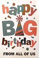 BIG01 - $8.99 Retail Each - Jumbo Card Birthday From All PKD 6