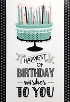 1134 - $5.99 Retail Each - Birthday General Greeting Card - PKD 3
