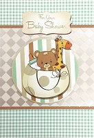 8021 - $5.99 Retail Each - Baby Shower Greeting Cards PKD 3 - Premium