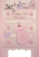 8004 - $4.99 Retail Each - New Baby Girl Greeting Cards PKD 3 - Premium