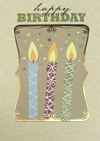 1410 - $4.99 Retail Each - Birthday Masculine Greeting Card - PKD 3