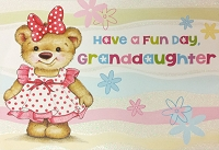 8032 - $4.99 Retail Each - Birthday Granddaughter Juvenile Greeting Cards PKD 3 - Premium