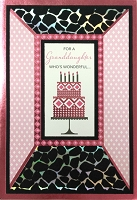 8029 - $4.99 Retail Each - Birthday Granddaughter Greeting Cards PKD 3 - Premium