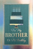 8091 - $5.99 Retail Each - Birthday Brother Greeting Cards PKD 3 - Premium
