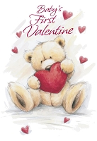 7869 - $2.80 Retail Each - Value Valentine's Day Juvenile Baby's 1st Greeting Card - PKD 6's
